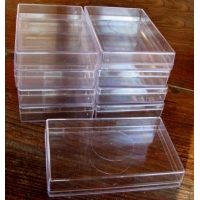 Plastic Box Size 4 Medium Flat. Carton of 9