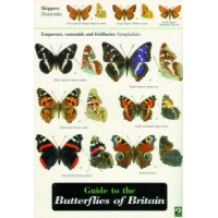 Butterflies of Britain,Richard Lewington, a colourful fold out laminated chart